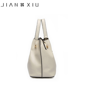 JIANXIU Brand Genuine Leather Handbag Luxury Handbags Women Bags Designer Bolsa Feminina 2018 Tote Borse Tassel Big Shoulder Bag